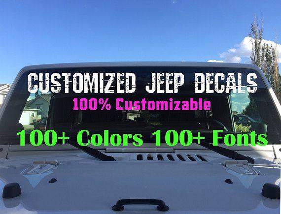 Custom Jeep Wrangler Decals Body Decals Car Truck Window Custom