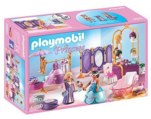 Playmobil – 6850 – Jeu – Salon de Beauté + Princesse: robes et divers accessoires raffinés pour changer les tenues des princesses. Des…