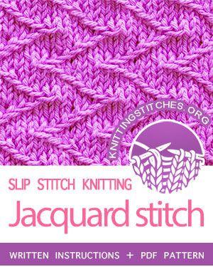 Slip Stitch Knitting Howtoknit The Jacquard Stitch Free Written