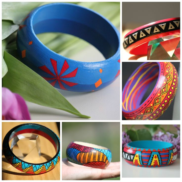 Find my handpainted wooden bracelets on Etsy!