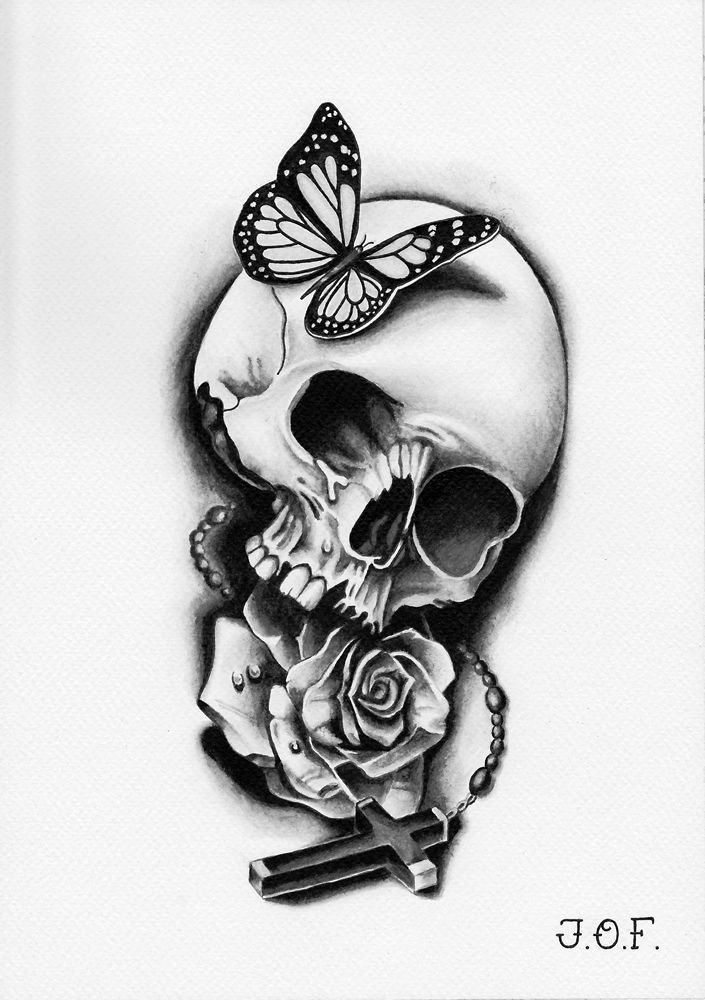 Grayscale Butterfly Skull Rose Cross 05 2015 Grayscale Butterfly Grayscale Butterfly Skull Rose C In 2020 Small Tattoos Butterfly Tattoo Cover Up Rib Tattoo