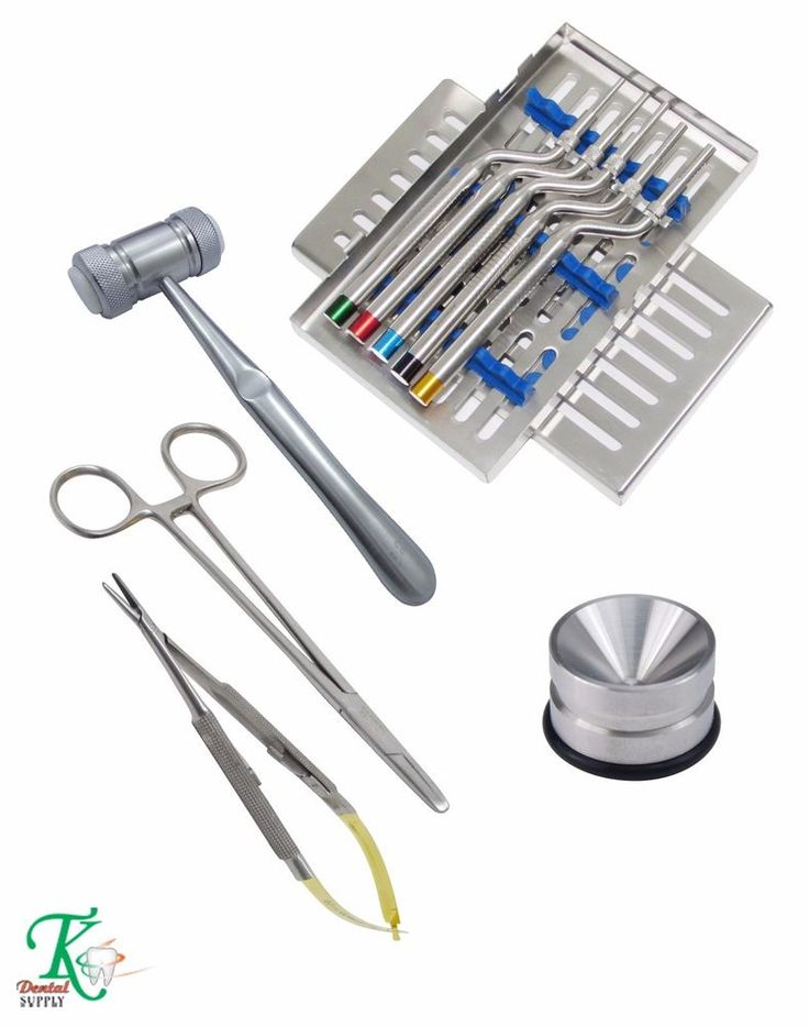 Osteotomes Offset Concave Amalgam Mixing Well Bone Mallet Implant Needle Holder #tkplus