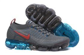 c709cb8335e98 Retail Nike Air VaporMax Flyknit 2. 0 W Wolf Grey Red Blue 942843 400 Mens  Running Shoes Summer Trainers
