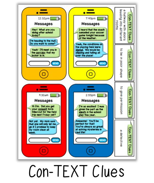 Context clues activity: FREE Literacy Games from the Classroom Game Nook.