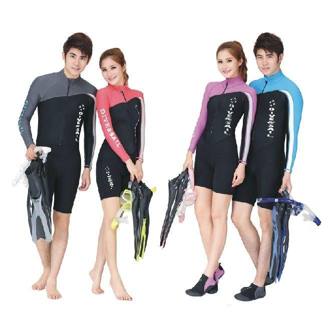 Защита от солнца одежда Профессиональный Водолазный костюм С Длинным рукавом брюки Нейлона, Лайкры купальники Тело гидрокостюмы для мужчин и женщин