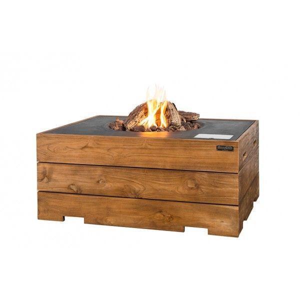 Happy Cocoon Table Teakhout vuurhaard - antraciet - DesignOnline24