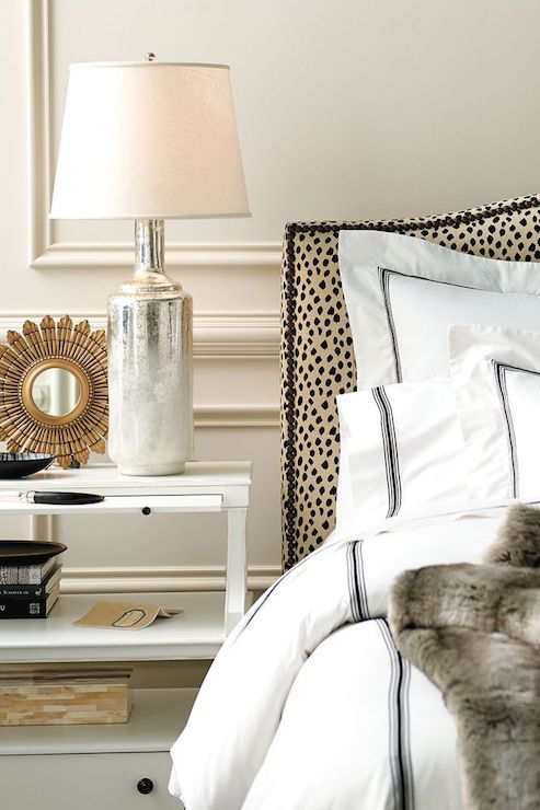 Animal Print Headboard, Transitional, Bedroom, Ballard Designs
