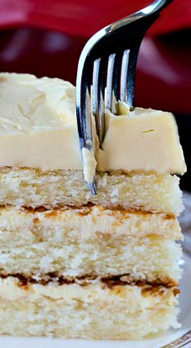 White Cake with Jack Daniel's Buttercream Frosting