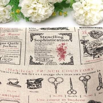 Cartoon Cotton Linen Fabric Cloth Patchwork For DIY Table Bedding Curtain at Banggood