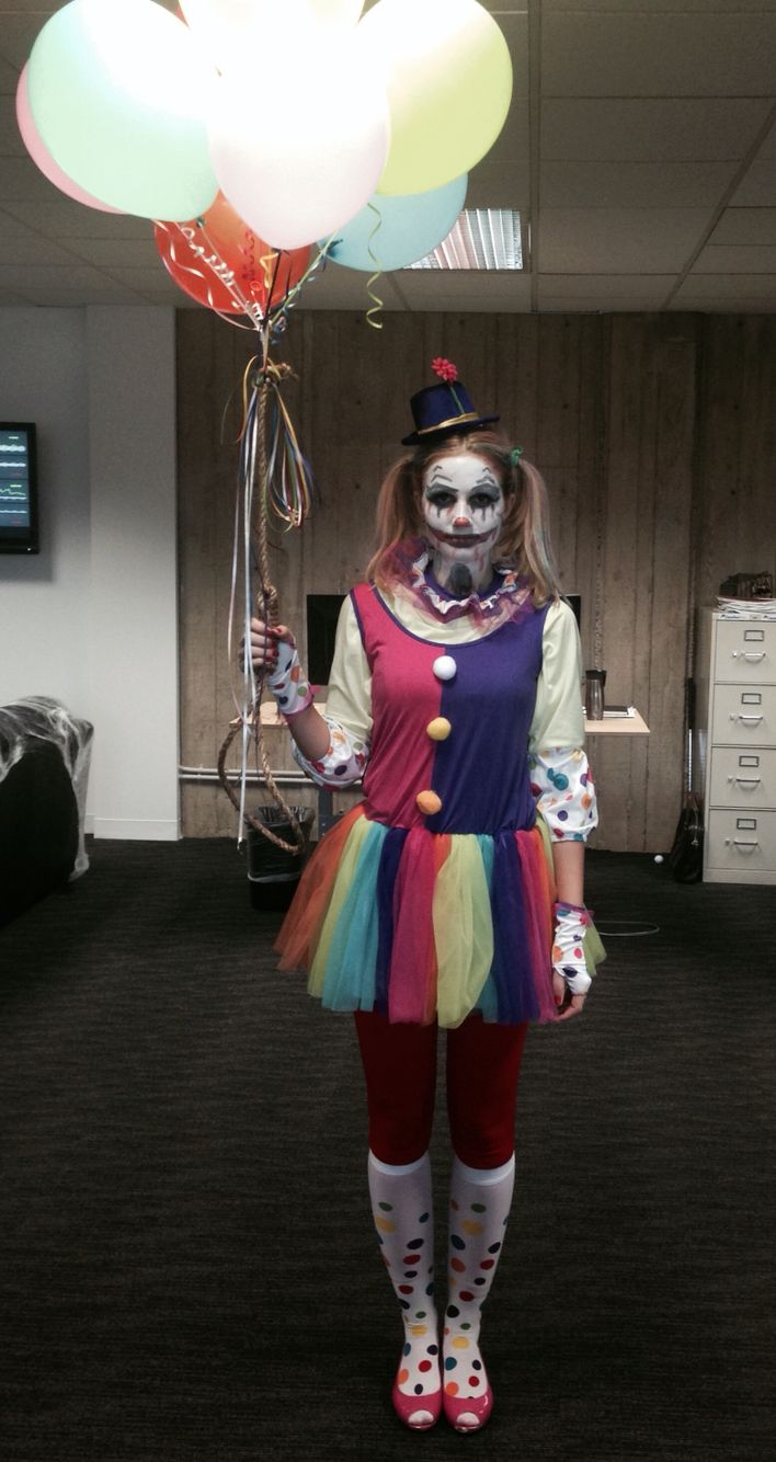 womenu0027s scary clown halloween costume