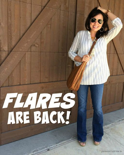 FLARE JEANS ARE BACK!   If you want to look tall and skinny, you need to give them a try!