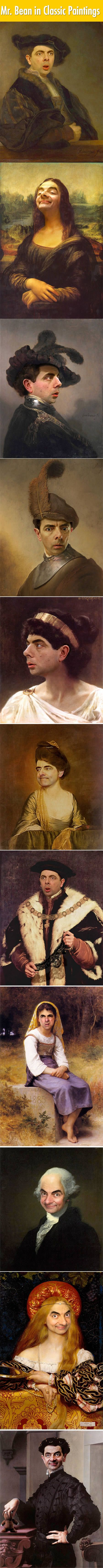 Mr.Bean In 11 Famous Classic Paintings. |LOL, Damn! Spread Laughter And Awesomeness!