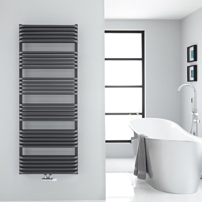 Arch Anthracite Hydronic Heated Towel Warmer 60 25 X 23 5 Heated Towel Warmer Towel Warmer Heated Towel