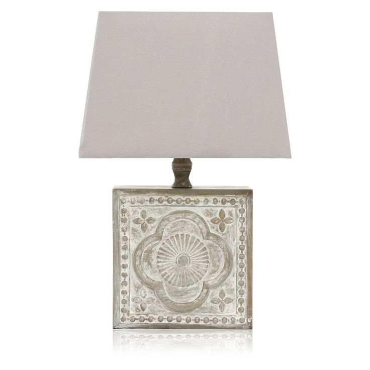 George Home Tile Effect Square Base Lamp