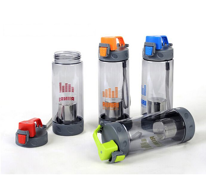700ml LeakProof Seal Large Capacity Nozzle Sports Portable Sport Travel Water Bottle Travel Mug With Filter Strainer Tea Bottles