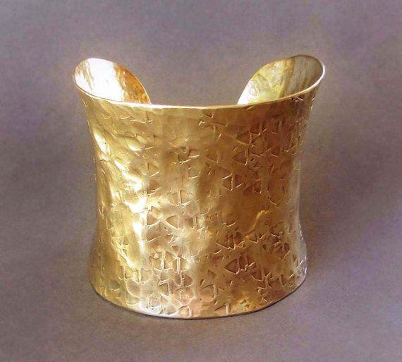 Wide Gold Cuff Bracelet Ancient Egyptian Jewelry Greek
