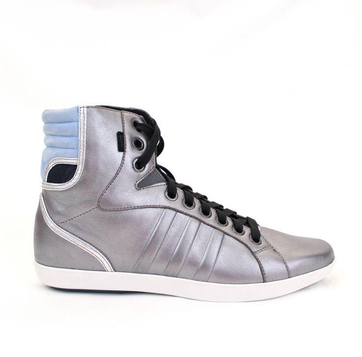 adidas SLVR Gym Women's High Top Sneaker, Athletic Shoes, Metallic Gray, ...