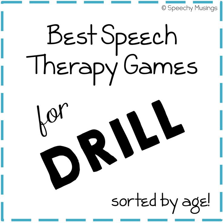 Speechy Musings: Best Speech Therapy Games for Drill by Age. Pinned by SOS Inc. Resources. Follow all our boards at pinterest.com/sostherapy/ for therapy resources.