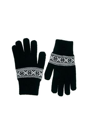 French Connection Fairisle Gloves