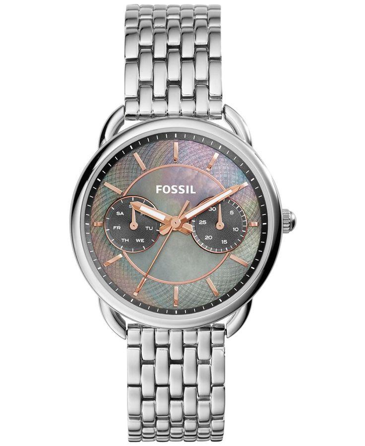 Fossil Women's Tailor Stainless Steel Bracelet Watch 34mm ES3911