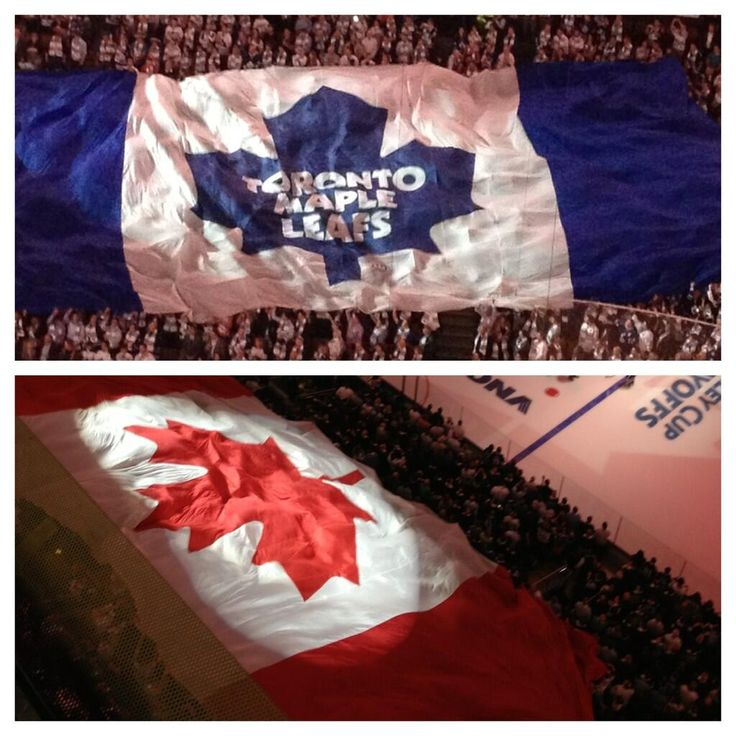 This never gets old at start of Toronto Maple Leaf home game!!