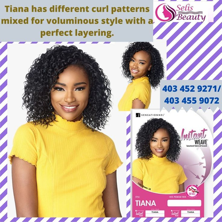 Tiana has different curl patterns mixed for voluminous