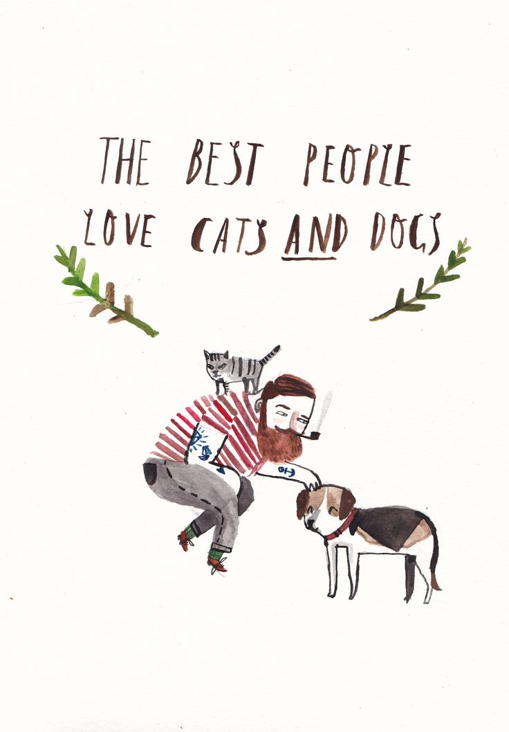 Cats and Dogs by Dick Vincent Illustration