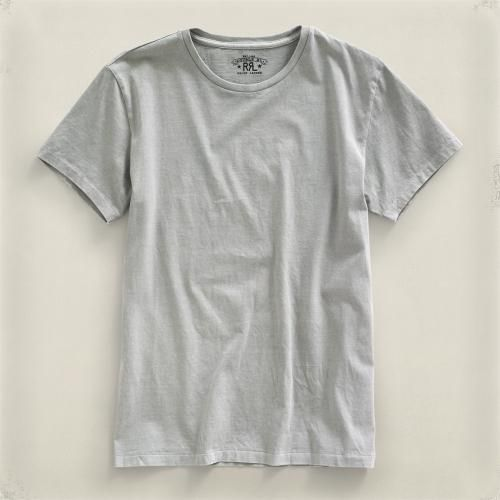 Fully combed cotton jersey tee with body knit as a continuous, seamless tube for an authentic vintage fit. Fabric and finished garment are washed to achieve a well-worn, soft hand. Ribbed... More Details
