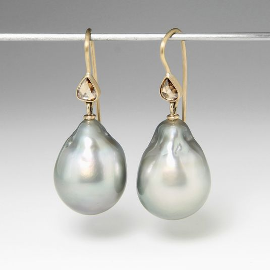 ct mm shaped australian earrings pearls salt diamonds water with kavels dangle pear x