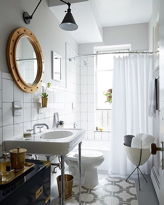 Brand-new beautiful bathroom on your list of goals for 2017?? ✔️ Trust, it IS possible - with no contractor required!!  Check out the link in our profile for the complete how-to. [design: @mepflug, : @manufotomanu] #WeekendDecorator