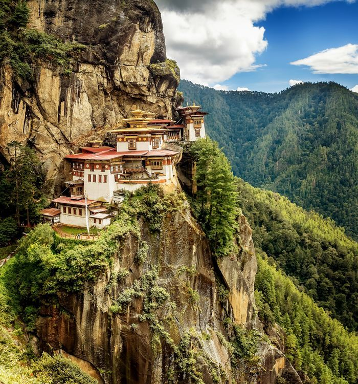 The Tiger's nest monastery located at above 10000 ft in Bhutan