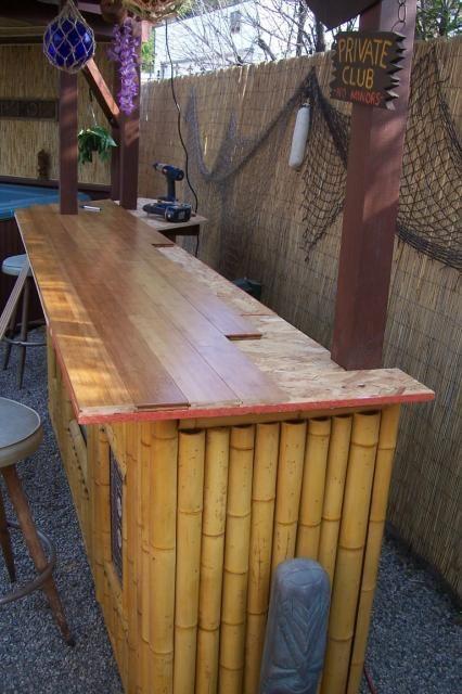 tiki bar top back yard deck outdoor summer stuff pinterest. Black Bedroom Furniture Sets. Home Design Ideas