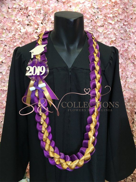 Braided 7/8″ Ribbon Leis for Graduation-Pick your school color.