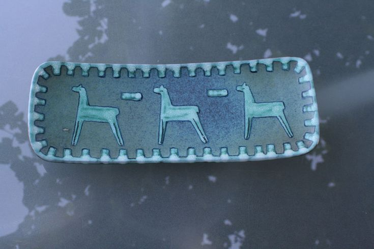 Wandbild Keramikteller Schale Ruscha Pferde Troja 50er Jahre selten   eBay