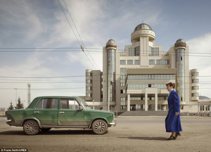 Post-Soviet pride: A police administration building in Kazan, the capital and largest city of the Republic of Tatarstan, Russia