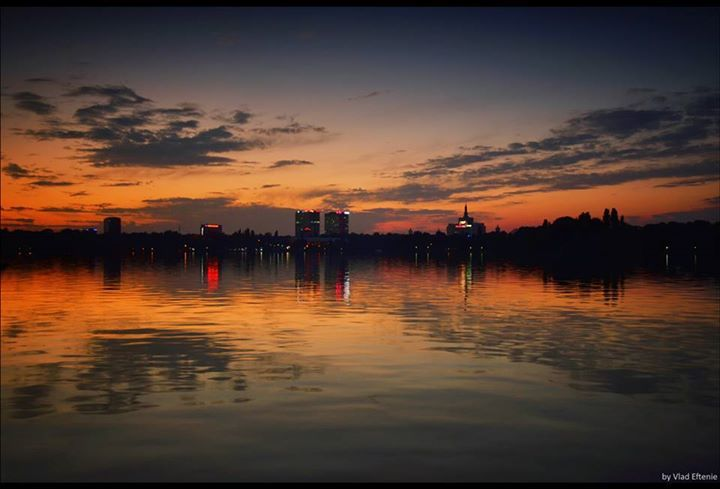 Sunset in Bucharest, RO (by Vlad Eftenie)