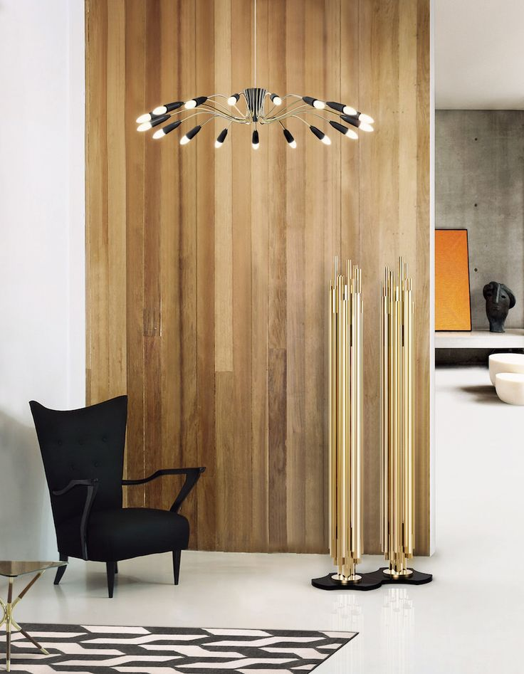 Brubeck floor light is a modern lighting fixture which suits perfectly in any living room.