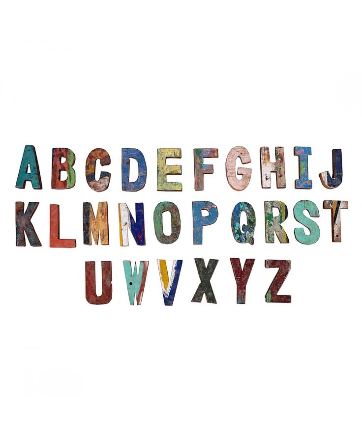Salvage - Boatwood Alphabet Letters | Home Office Furniture - Easterly