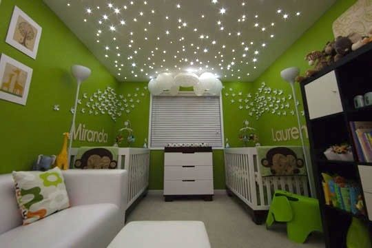 low light baby nursery ceiling with led star lights