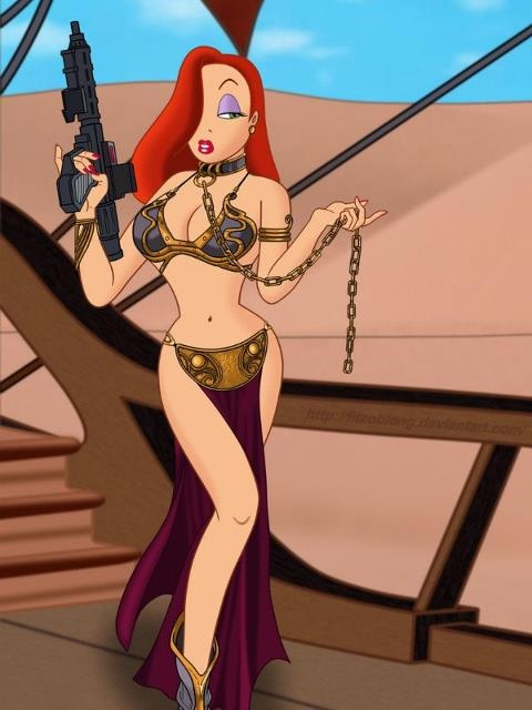Jessica rabbit as slave Leia