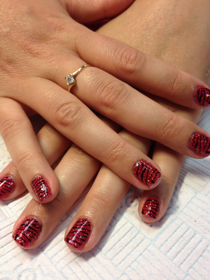 shellac with nail art by me | Nails & nail art by Cath | Pinterest