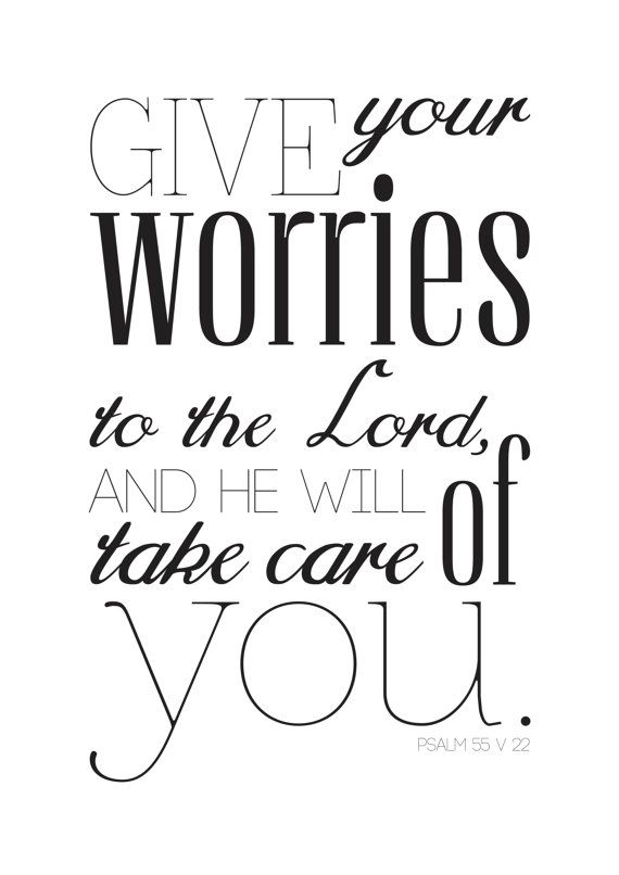 Give All Your Worries To The Lord Bible Quote Typography