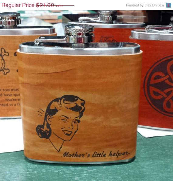 I think I need this!  FLASK for woman on etsy!!SALE 15% OFF Christmas Gift for Women  by KillorglinCreations