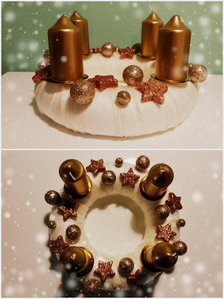 "Adventní věnec ""Zlatonka"" (Advent wreath ""Zlatonka"")"