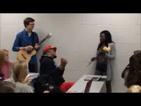 Auburn Wesley Foundation's Singing Valentine to Cam Newton