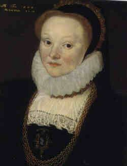 "Joan Smythe (daughter of Thomas ""Customer"" Smythe and Alice Judde) by Cornelius Ketel, 1579"