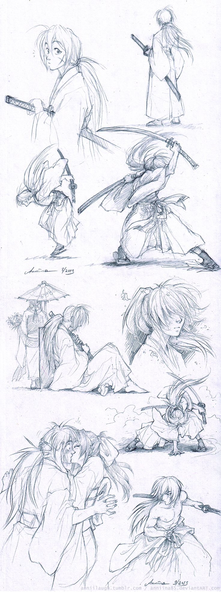RuroKen sketches by Anniina85.deviantart.com on @deviantART