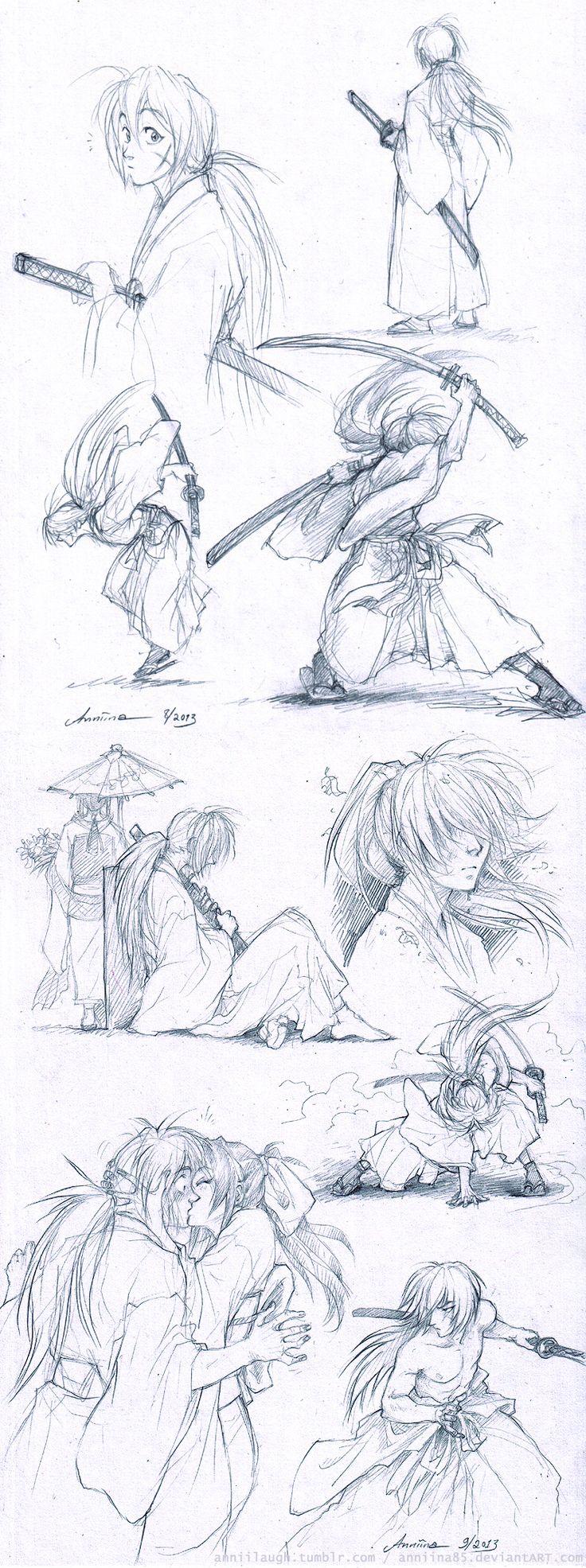 RuroKen sketches by Anniina85.deviantart.com on @deviantART  @aashtrayheart mira que lindoooooooooooo