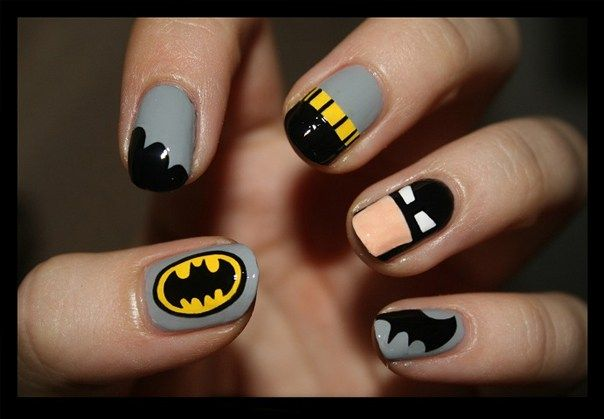 Superhero Comic Book Wedding Ideas - Batman Nails - Nails With Love
