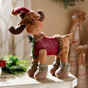 This Tabletop Plush Reindeer is a cuddly addition to your holiday decor. #kirklands #holidaydecor #KirklandsHoliday
